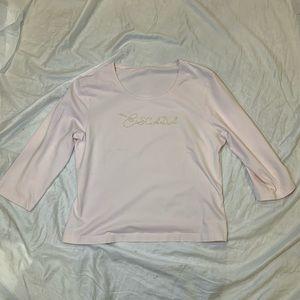 Escada Sport Light Pink Bedazzled Long Sleeve